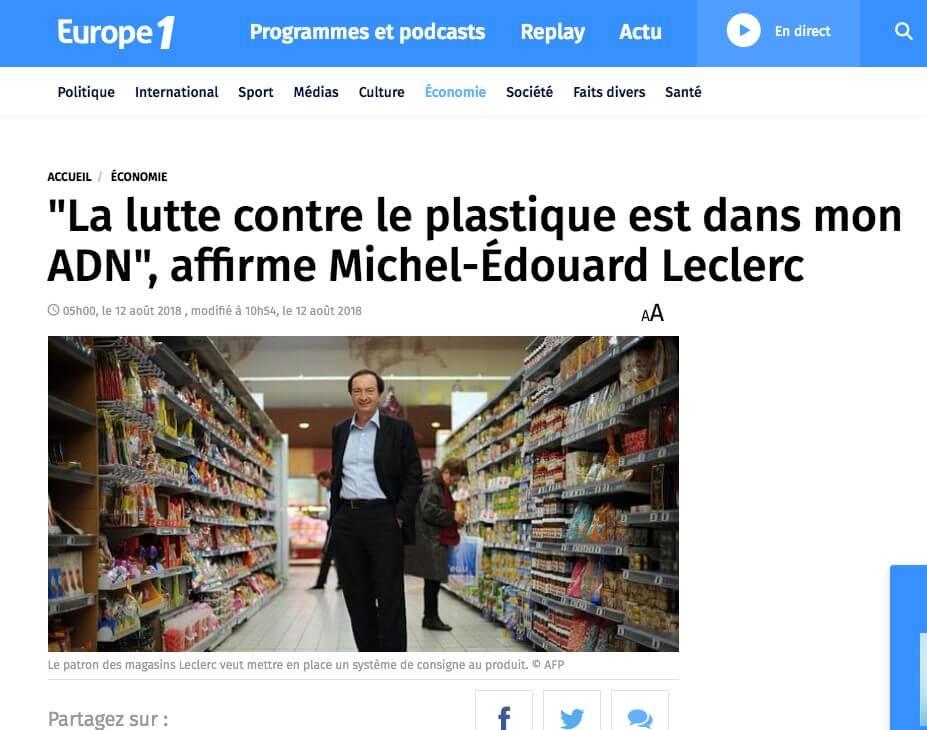 la lutte contre le plastique est dans mon ADN, Michel-Edouard Leclerc