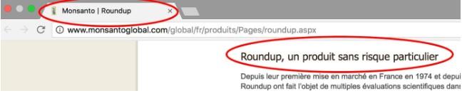 Roundup, un produit sans risque