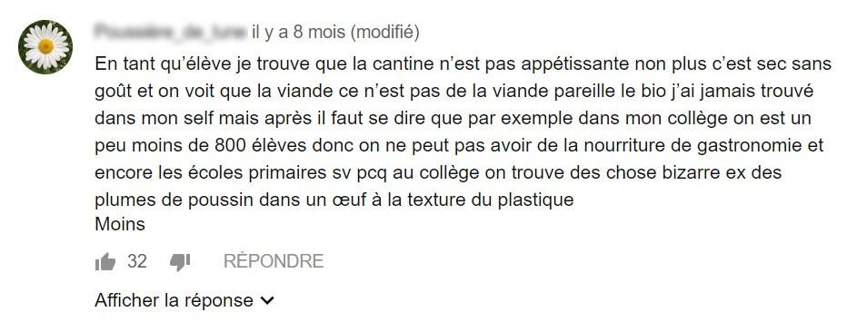 Cantine forum enfant