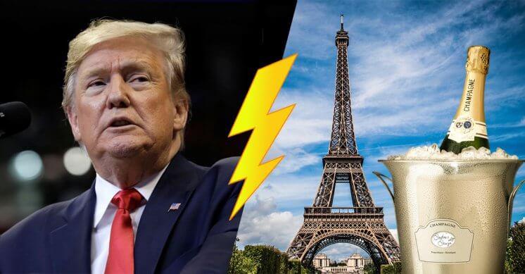 Trump : non à la surtaxe du vin et produits de luxe français !